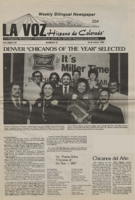 """Denver """"Chicanos of the Year"""" selected"""
