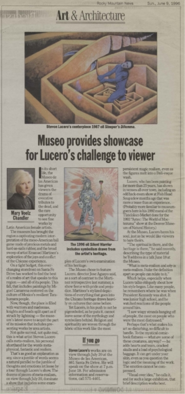 Museo provides showcase for Lucero's challenge to viewer
