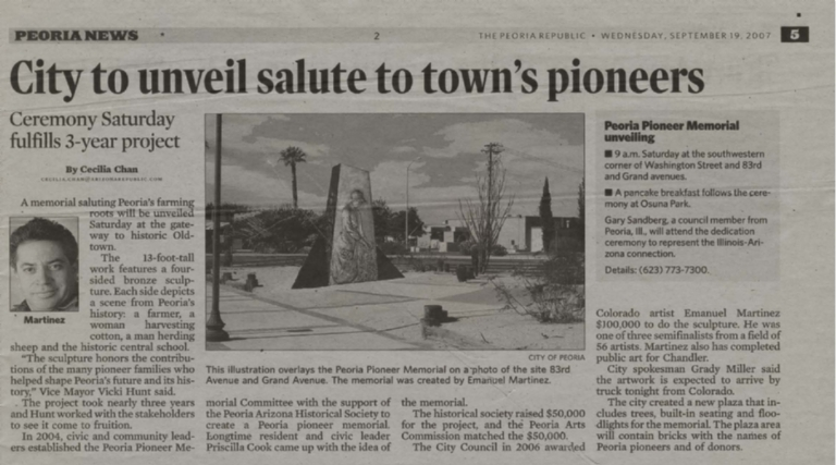 City to unveil salute to town's pioneers