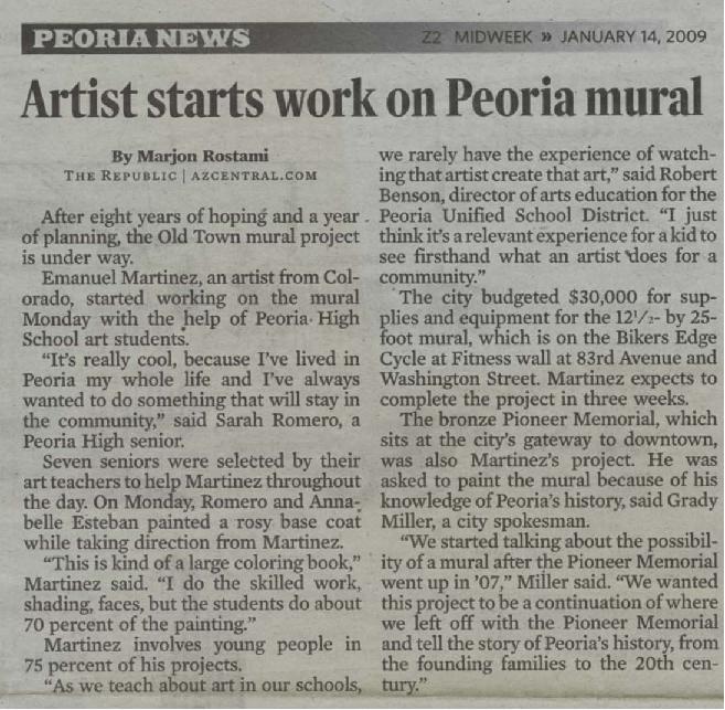 Artist starts work on Peoria mural