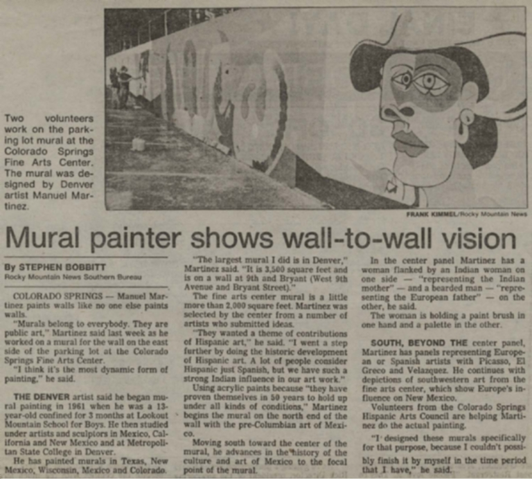 Mural painter shows wall-to-wall vision