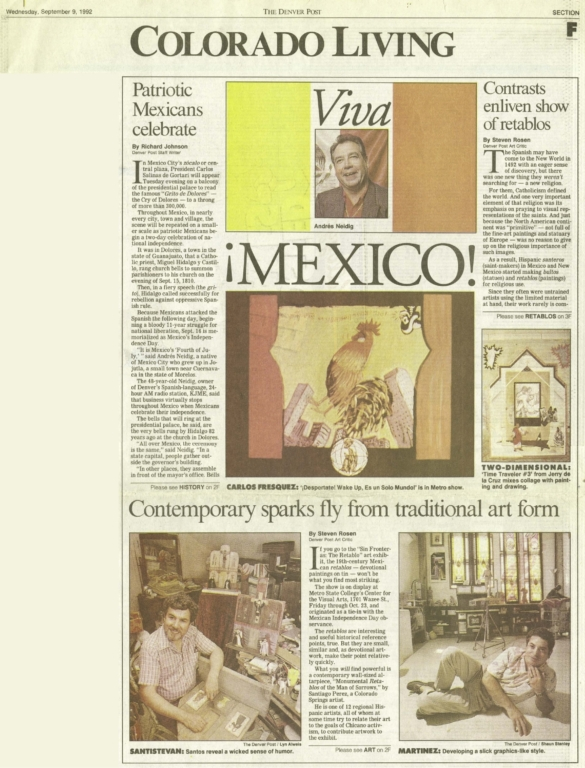 Compelling work puts Perez in forefront of area Hispanic artists / Local artists' contributions reinforce retablos exhibit