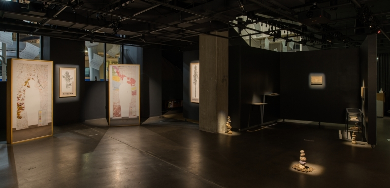 """Selected works from """"Mapping Bodily Connections"""" series (Erika Osborne); Balance (Amy Felder); selected works from the """"departing landscapes"""" series (Herbert Pföstl)"""