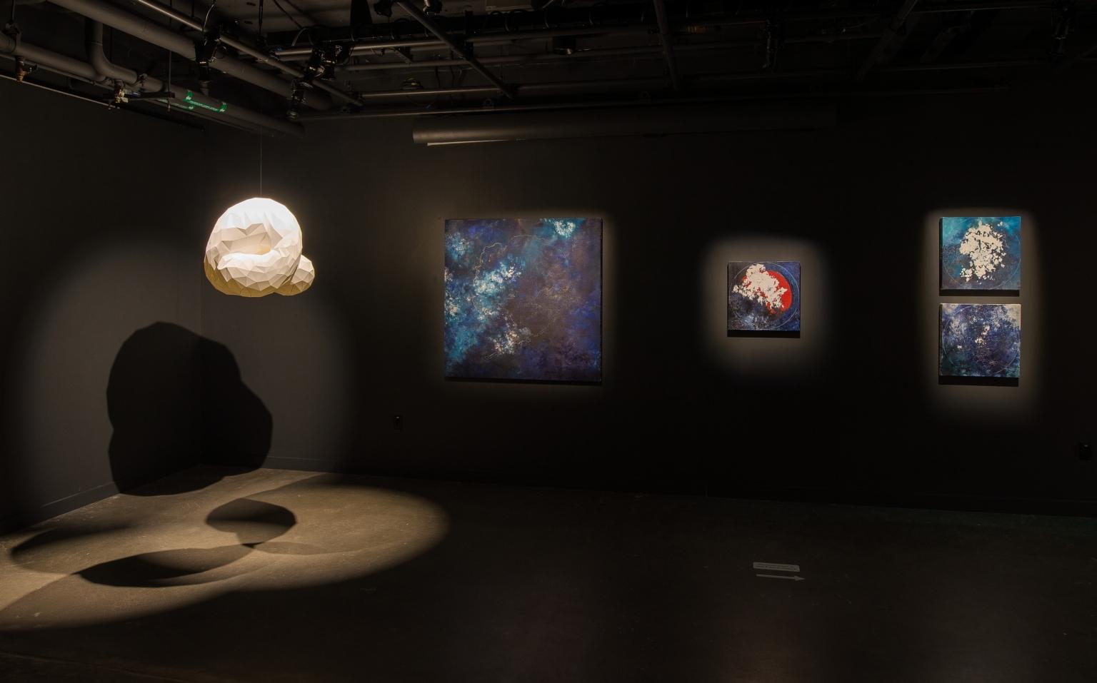 Project(ive) (Camila Friedman-Gerlicz); Glacier Map 3; Sphere 1; Sphere 2; Sphere 3 (Diane Burko)